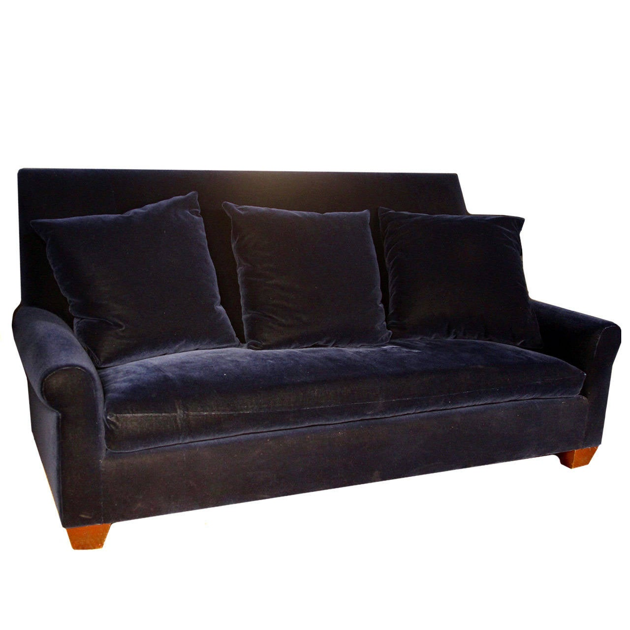 Angelo Donghia Newly Upholstered Navy Velvet Sofa For Sale  : MatthewCouch2l from www.1stdibs.com size 1280 x 1280 jpeg 96kB