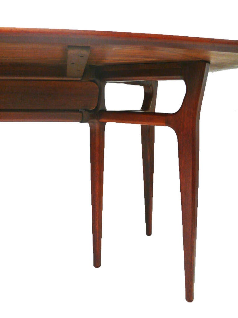 Convertable console dining table in the manner of ico parisi at 1stdibs - Console table converts to dining table ...