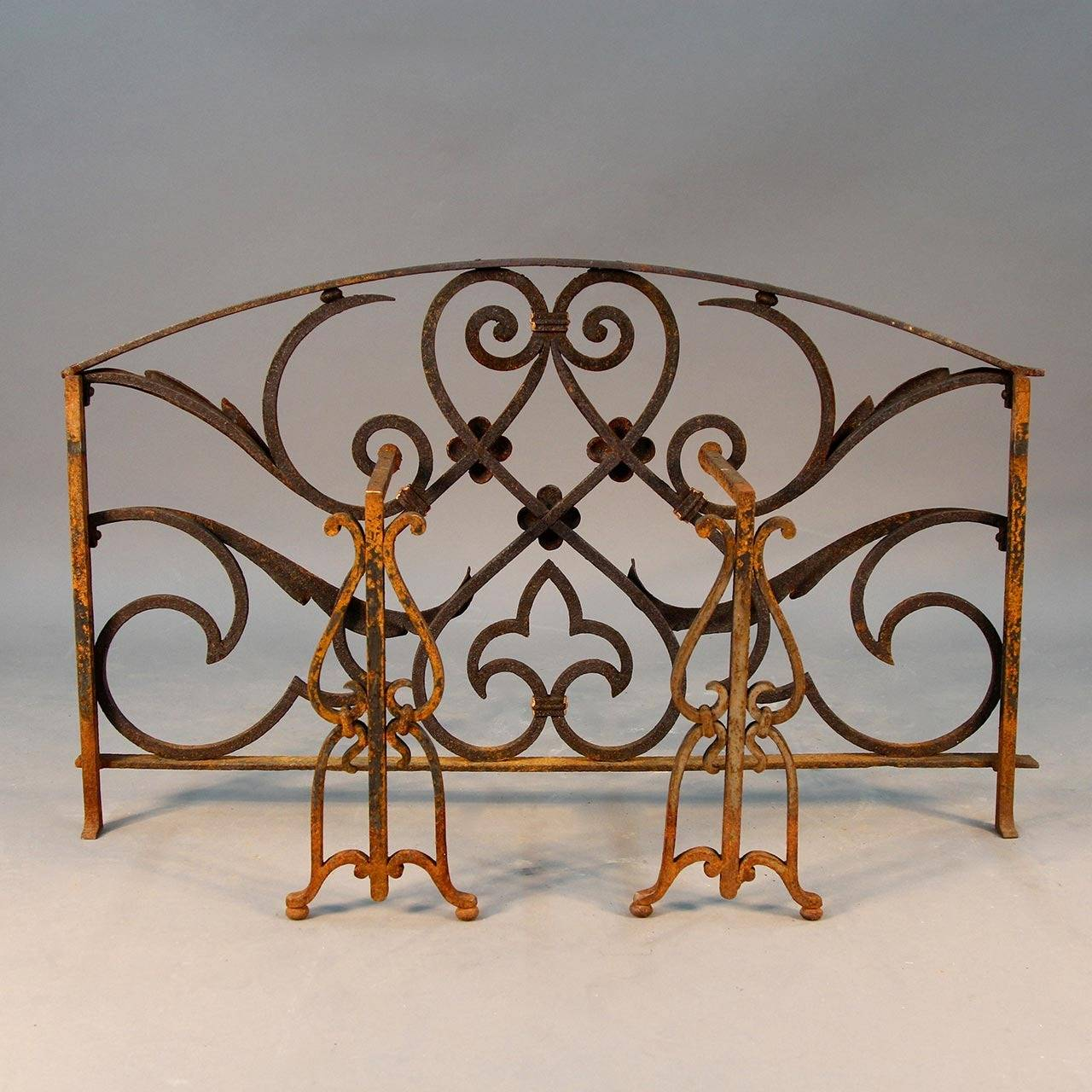 Scrolled Iron Outdoor Fire Screen at 1stdibs