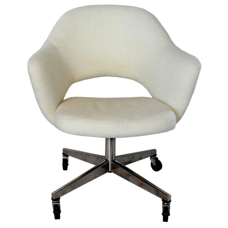 Early Rolling Desk Chair Eero Saarinen at 1stdibs