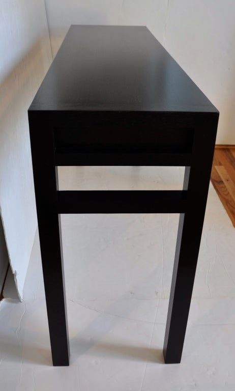 Exotic Wood Four Drawer Console - Christian Liaigre For Sale 3