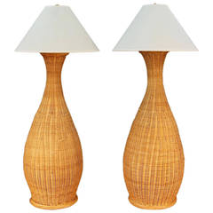 Wicker Floor Lamps