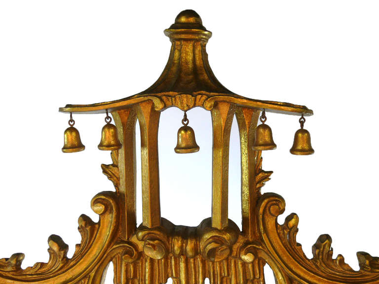 Pair of chinese chippendale pagoda mirrors elaborately for Chinese furniture norwalk ct