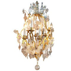 Capiz Shell Chandelier In The Style Of Verner Panton At