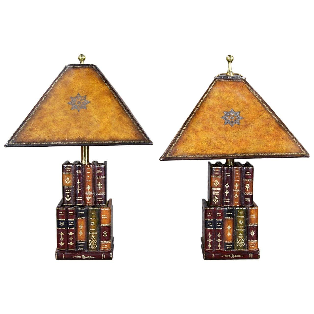Pair of Maitland Smith Faux Book L&s 1  sc 1 st  1stDibs & Pair of Maitland Smith Faux Book Lamps at 1stdibs azcodes.com
