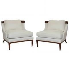 Erwin-Lambeth White Linen Chairs
