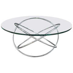 Chrome and Glass Atomic Table