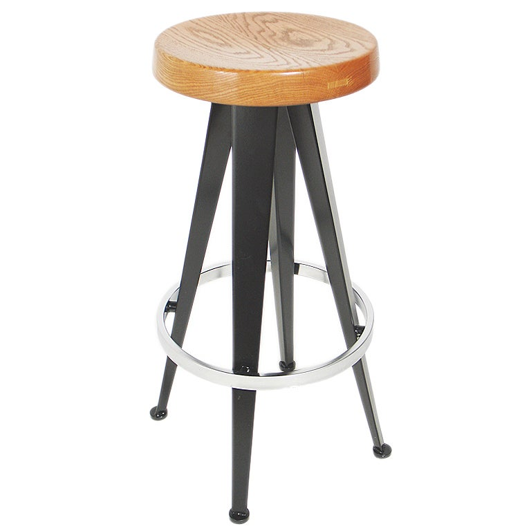 Modernist Bar Stools After Jean Prouve Six Available