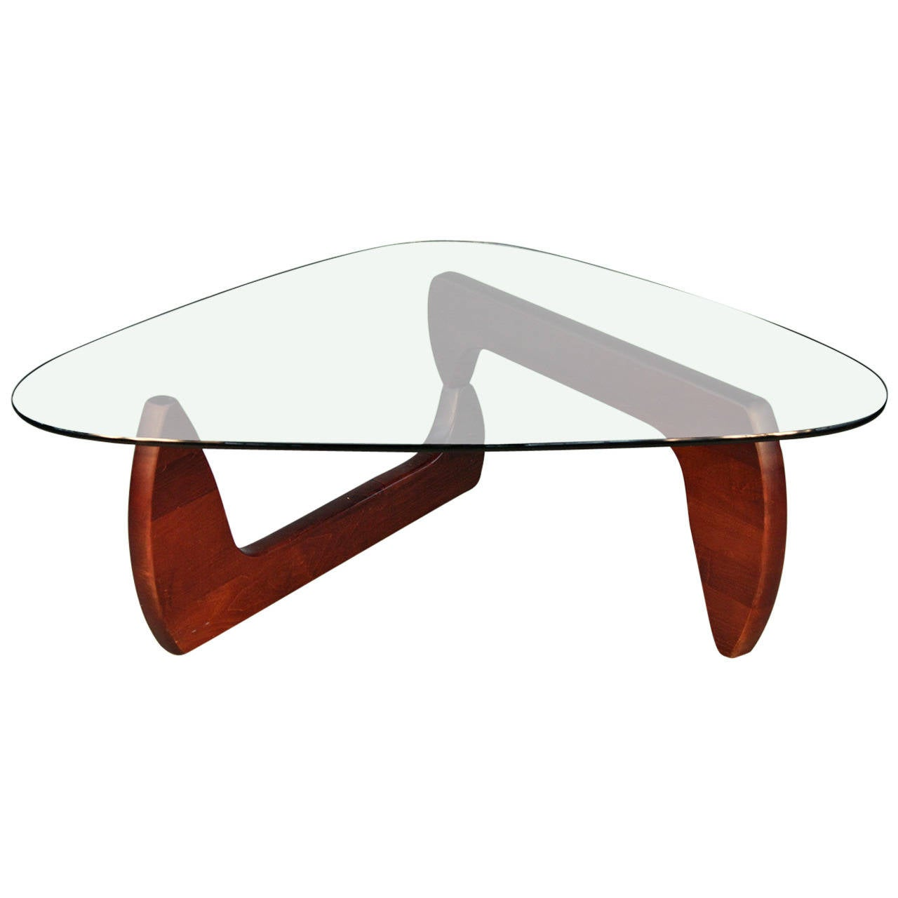 noguchi style coffee table with glass top at 1stdibs. Black Bedroom Furniture Sets. Home Design Ideas