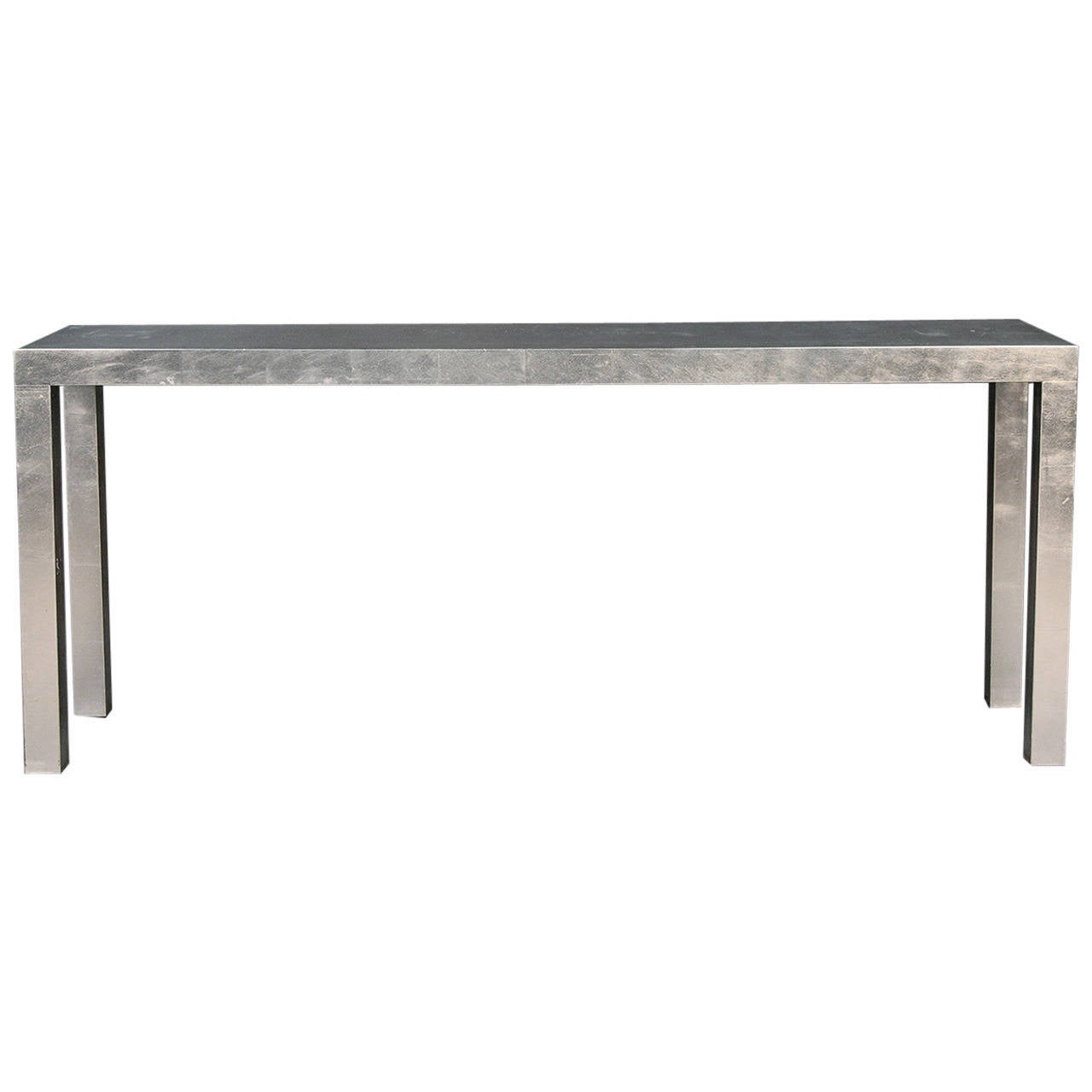 modern silver leaf console table at 1stdibs