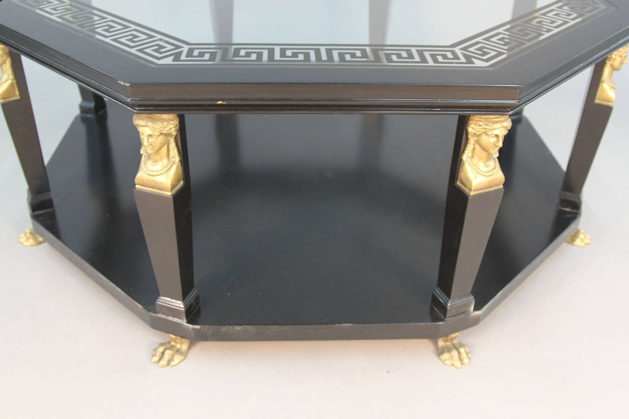Awesome Baker Coffee Table With Brass Sphinx Legs And Feet At 1Stdibs Andrewgaddart Wooden Chair Designs For Living Room Andrewgaddartcom