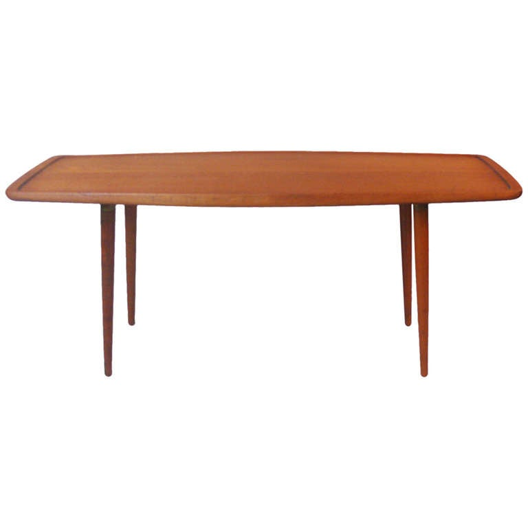 Solid Teak Coffee Table By Jacob Kjaer At 1stdibs