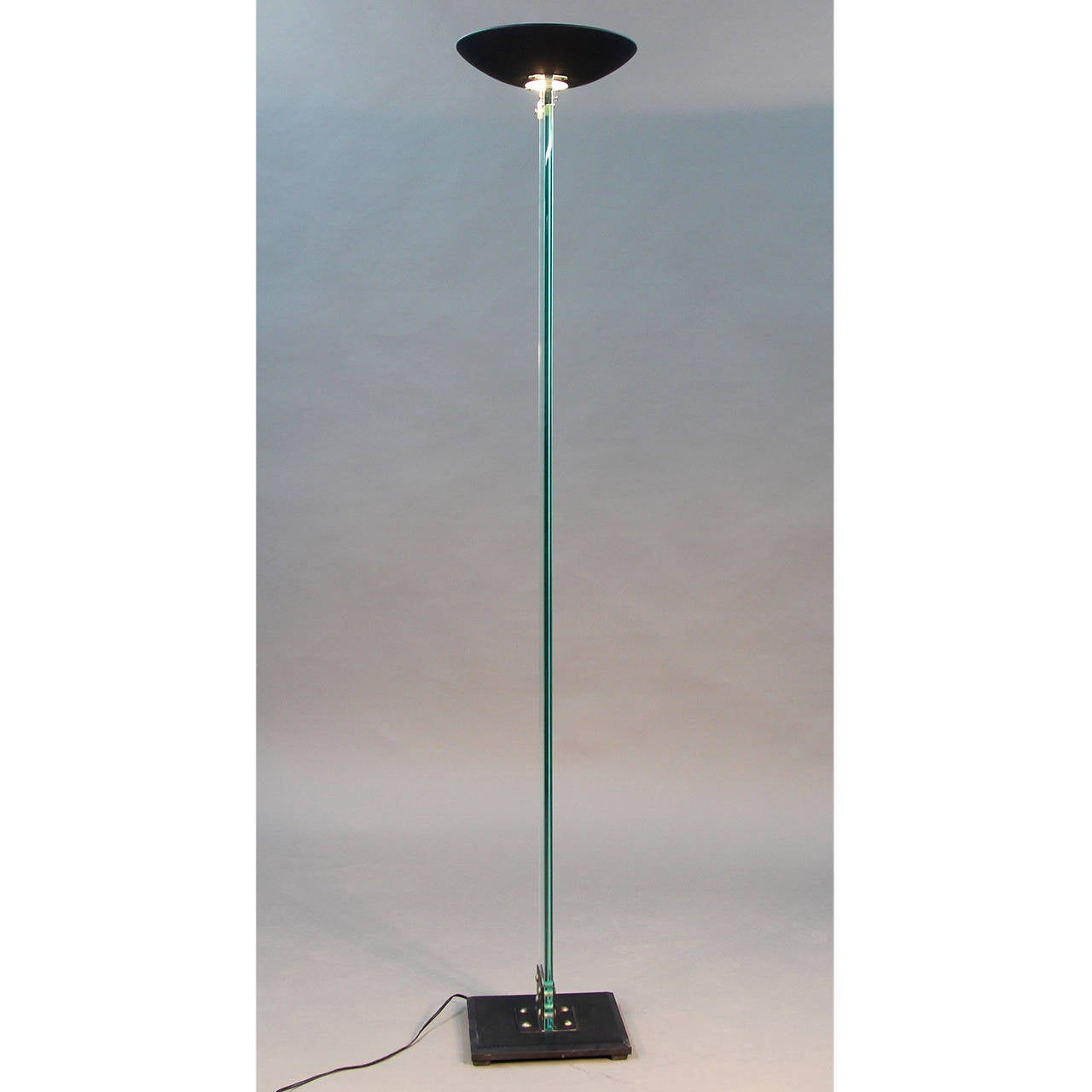 Art deco silver and stacked crystal ball floor lamp at 1stdibs - Fontana Arte Style Glass And Brass Floor Lamp 2