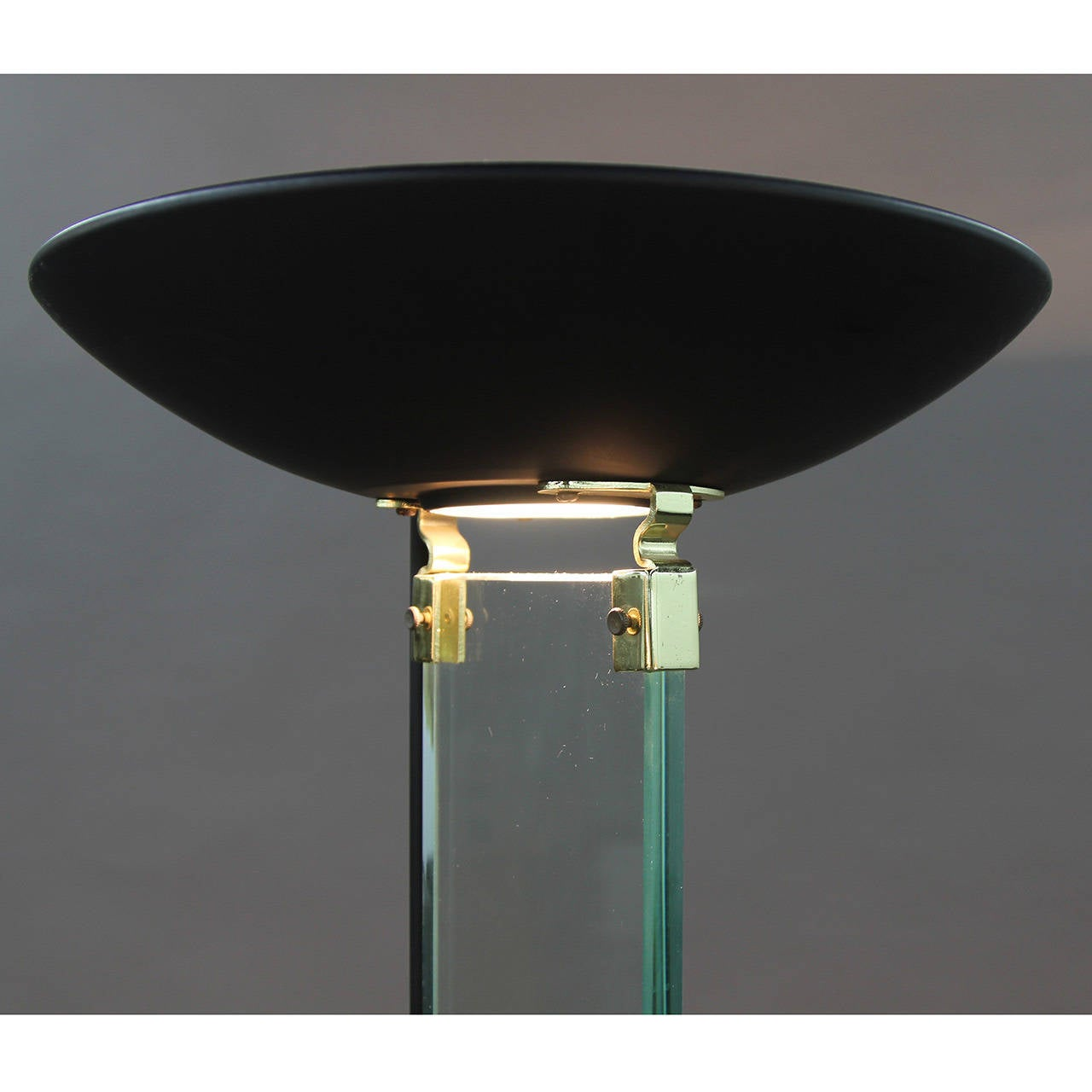 Fontana Arte Style Glass And Brass Floor Lamp At 1stdibs