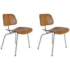 Two Early DCM Chairs by Eames