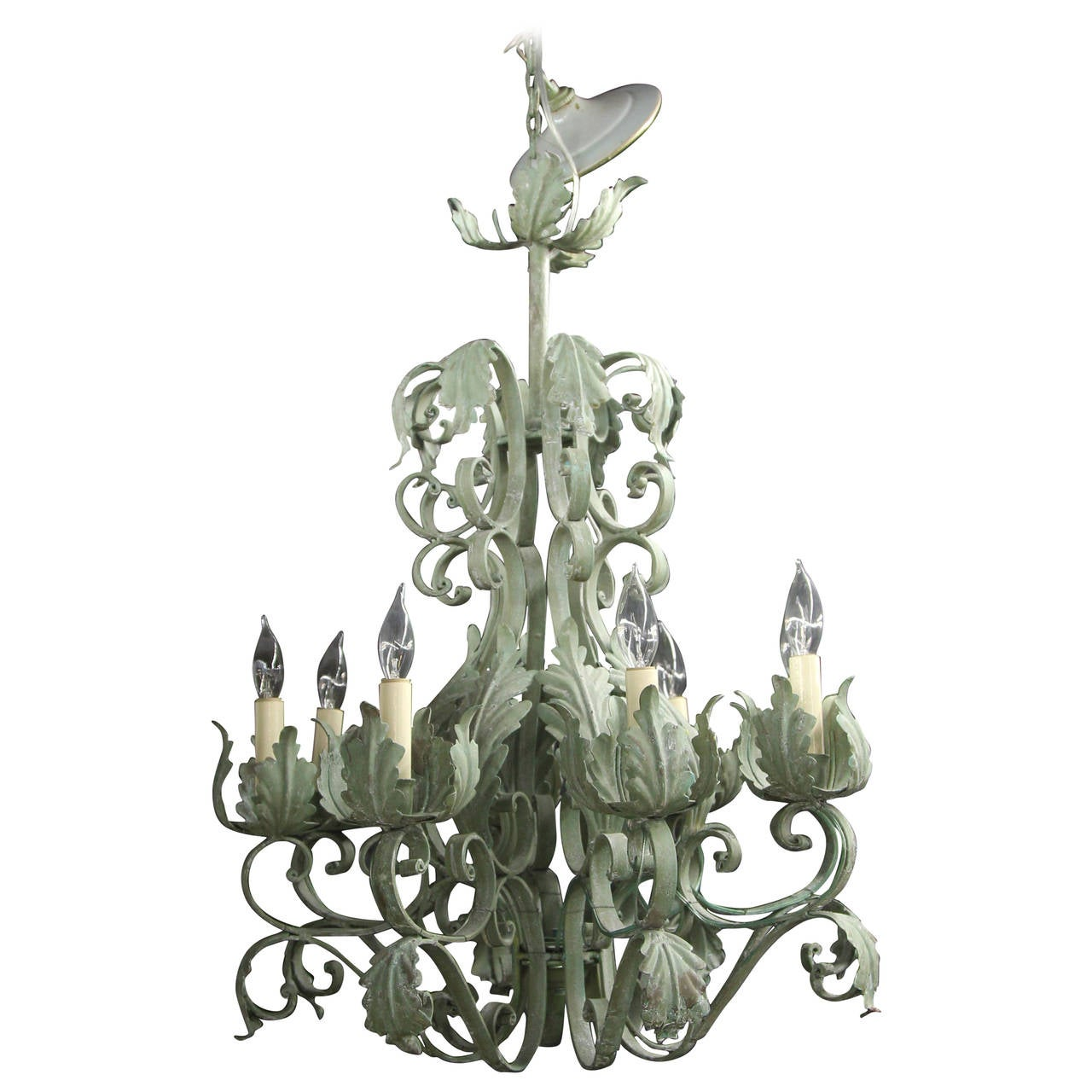 French Chandelier Sienna Metal And Glass French