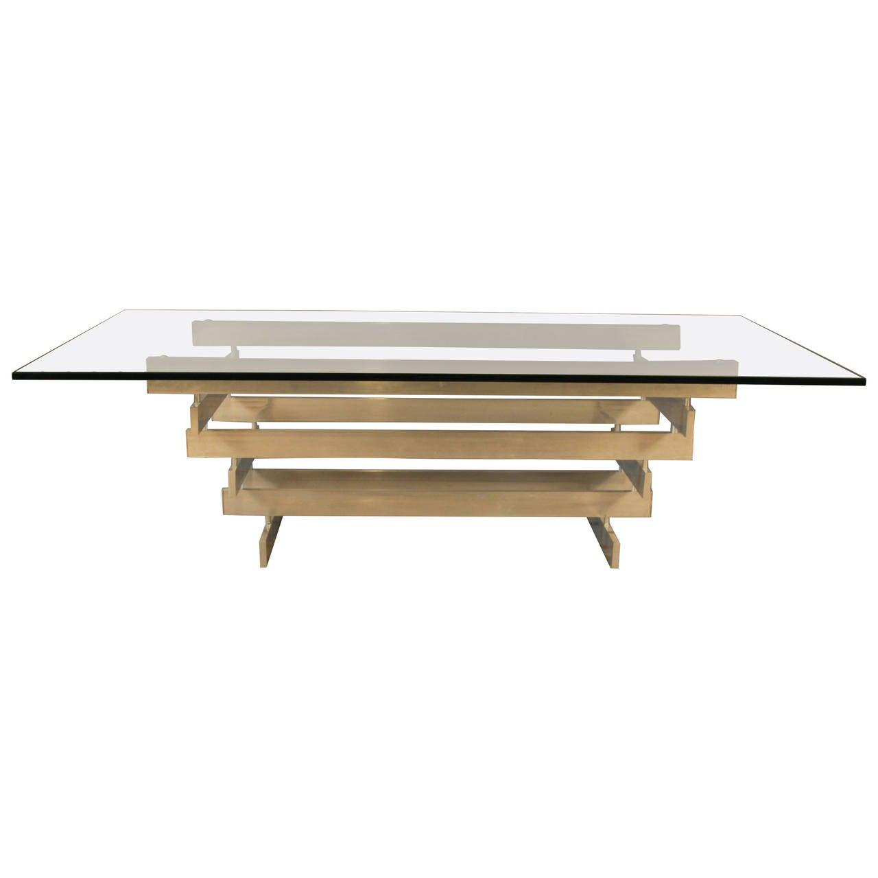 Paul Mayen Multi Tiered Aluminum Coffee Table For Habitat At 1stdibs