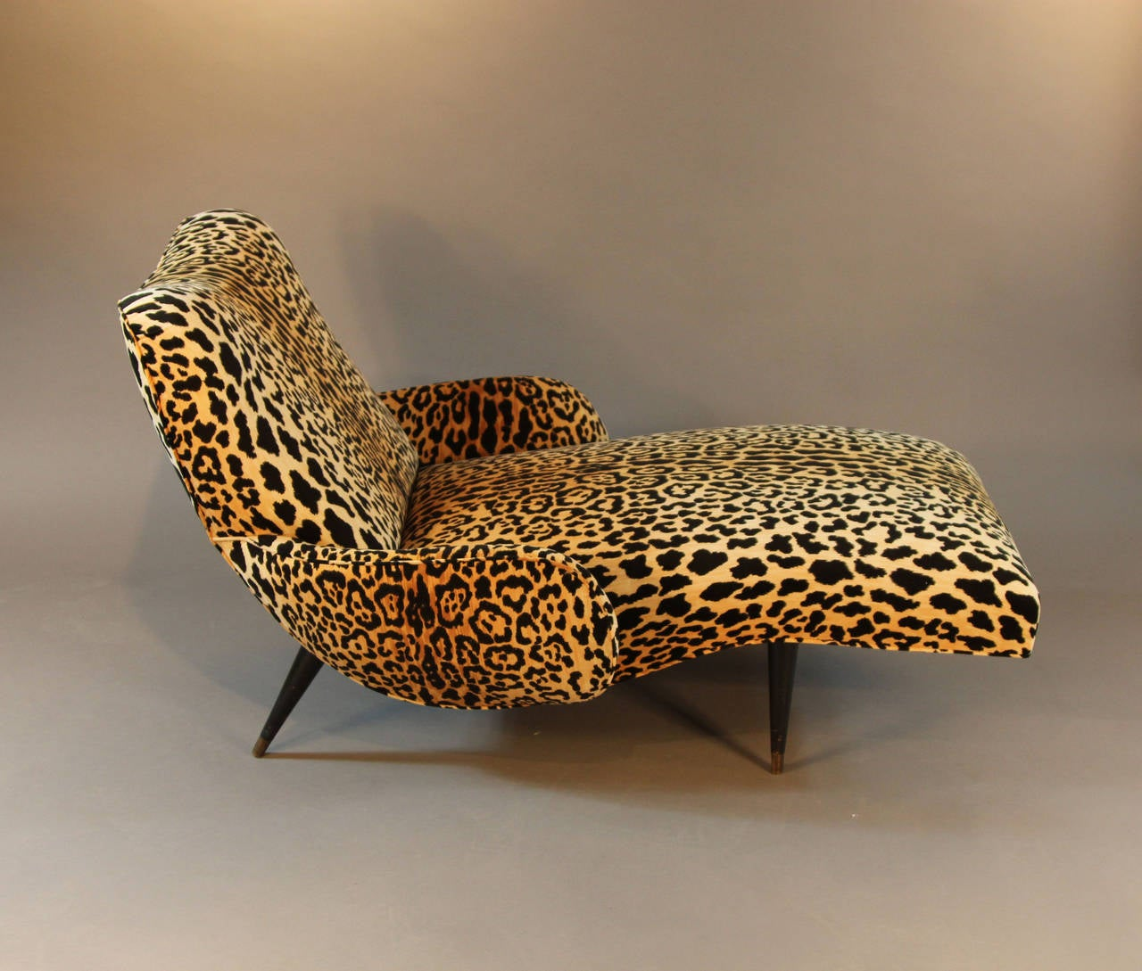 Remarkable Mid Century Leopard Print Velvet Chaise Longue At 1Stdibs Andrewgaddart Wooden Chair Designs For Living Room Andrewgaddartcom