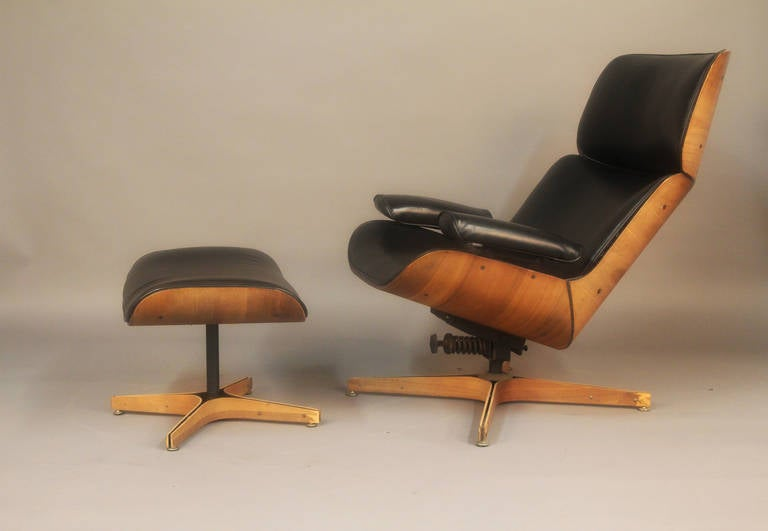 George Mulhauser Mr Chair Lounge Chair And Ottoman By