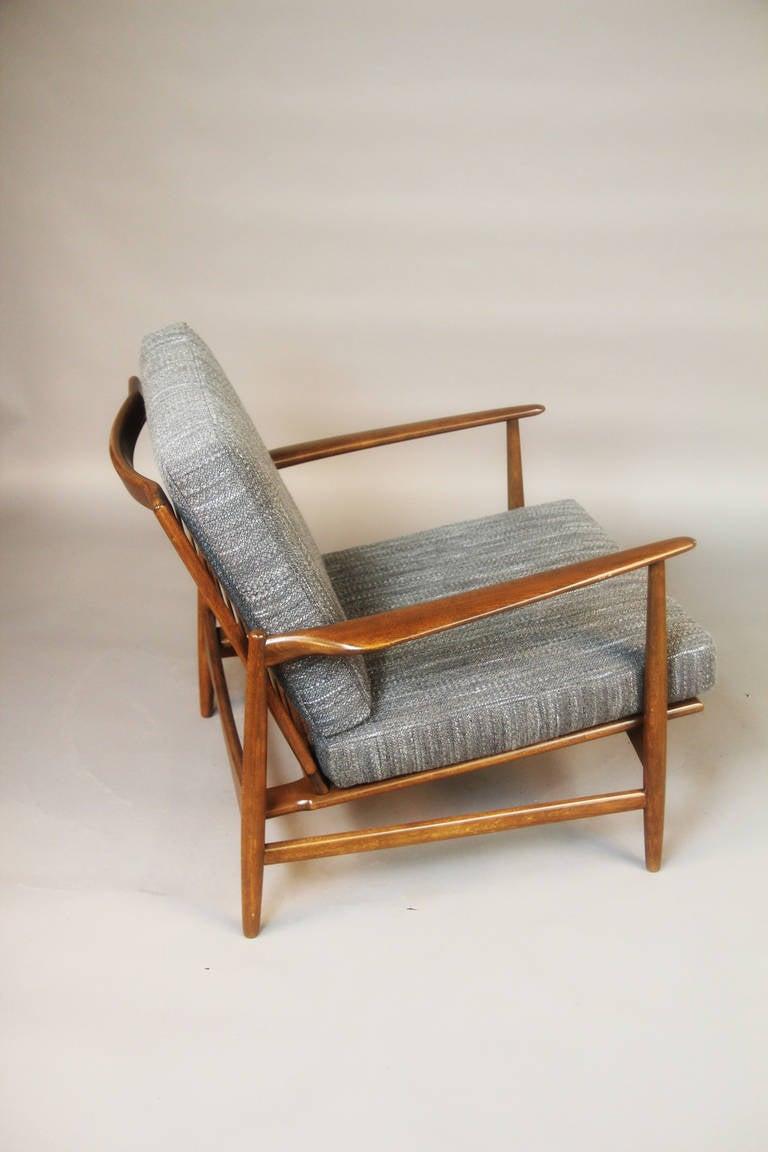 Pair Of Danish Mid Century Chairs At 1stdibs