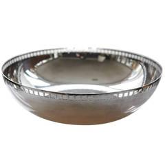 """Silver Plate Centerpiece Bowl, """"Skyscraper,"""" by Richard Meier for Swid Powell"""