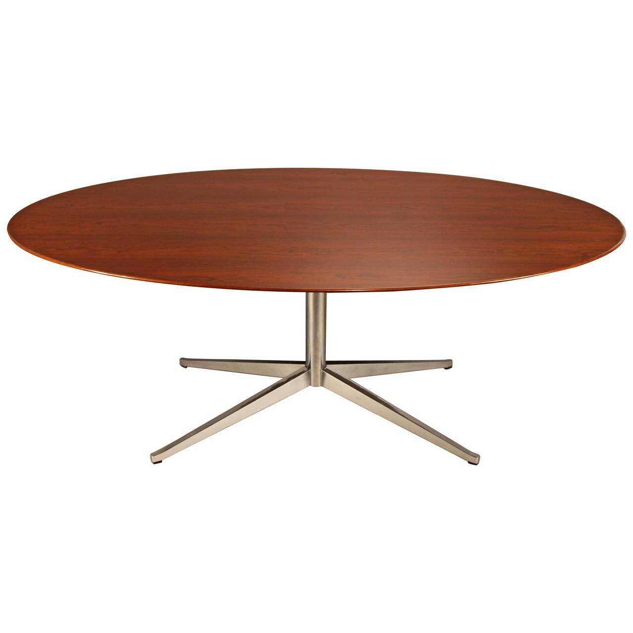 florence knoll rosewood table on chrome base at 1stdibs. Black Bedroom Furniture Sets. Home Design Ideas