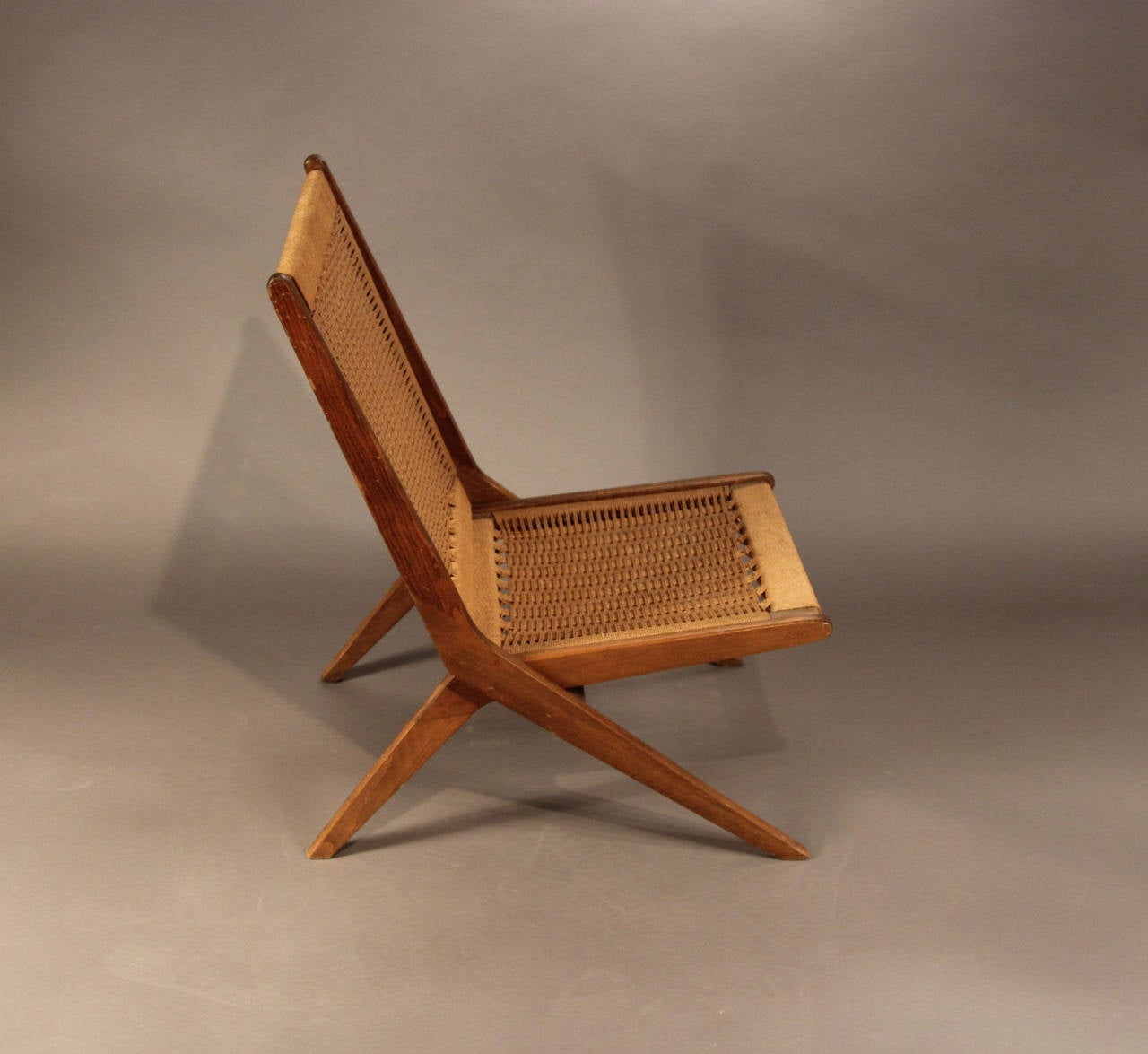 Incredible Lines Not His Unique Style Folding Rope Chair In The Manner Of Hans  Wegner.