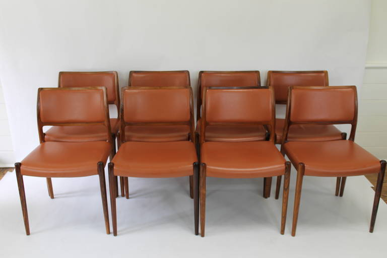 Niels Otto Moller Rosewood Dining Chairs Model 80 At 1stdibs