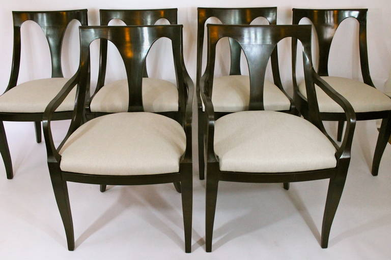 Set Of Six Empire Style Dining Chairs By Kindel 2