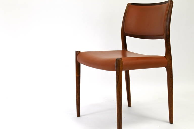 Niels otto moller rosewood dining chairs model at stdibs