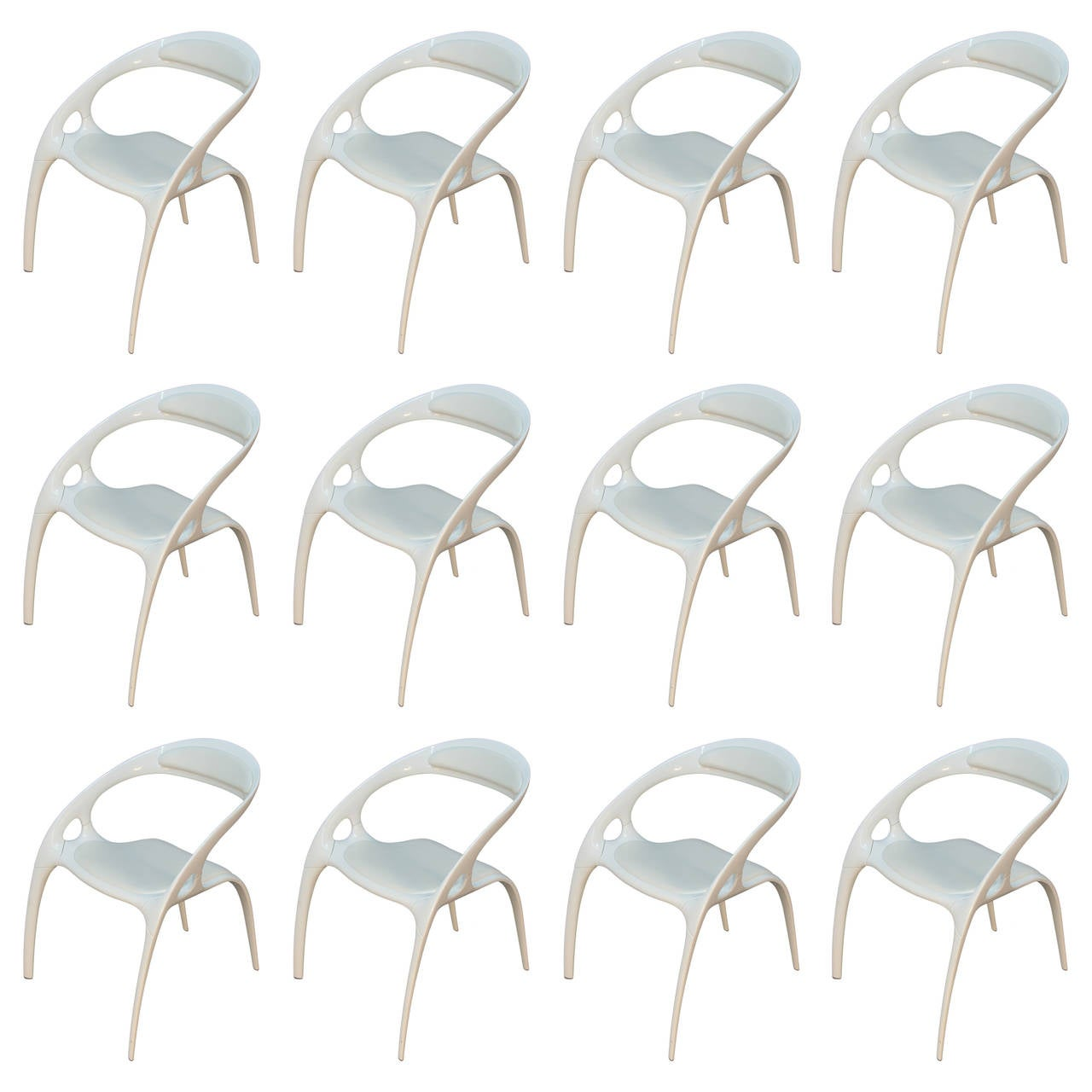 set of 12 ross lovegrove go chairs for bernhardt at 1stdibs