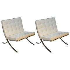 Mies Van Der Rohe for Knoll Barcelona Chairs
