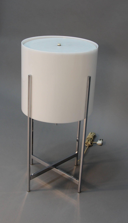 Paul mayen for habitat chrome and lucite lamp for sale at for Habitat chrome floor lamp
