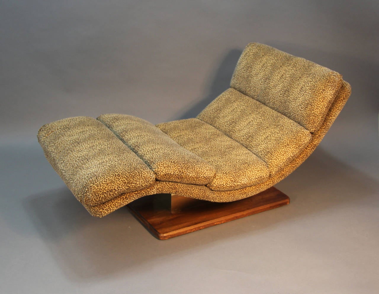 Mid Century Leopard Chaise Lounge For Sale At 1stdibs