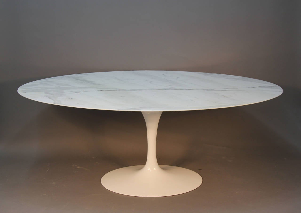 Saarinen Oval Marble Top Dining Table At 1stdibs