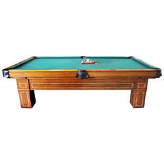 Rare Vintage G. Correale & Sons Fast Model 9ft Pool Table
