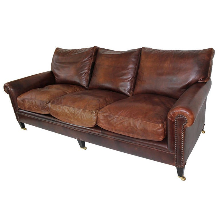 "Premium Leather Sofas Uk: George Smith Leather Sofa In ""American Chocolate"" Color At"