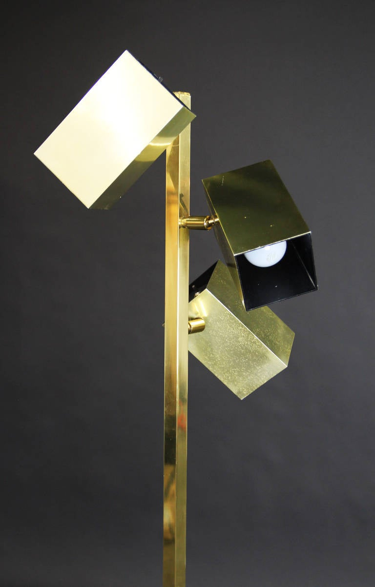 Brass Floor Lamp By Robert Sonneman At 1stdibs