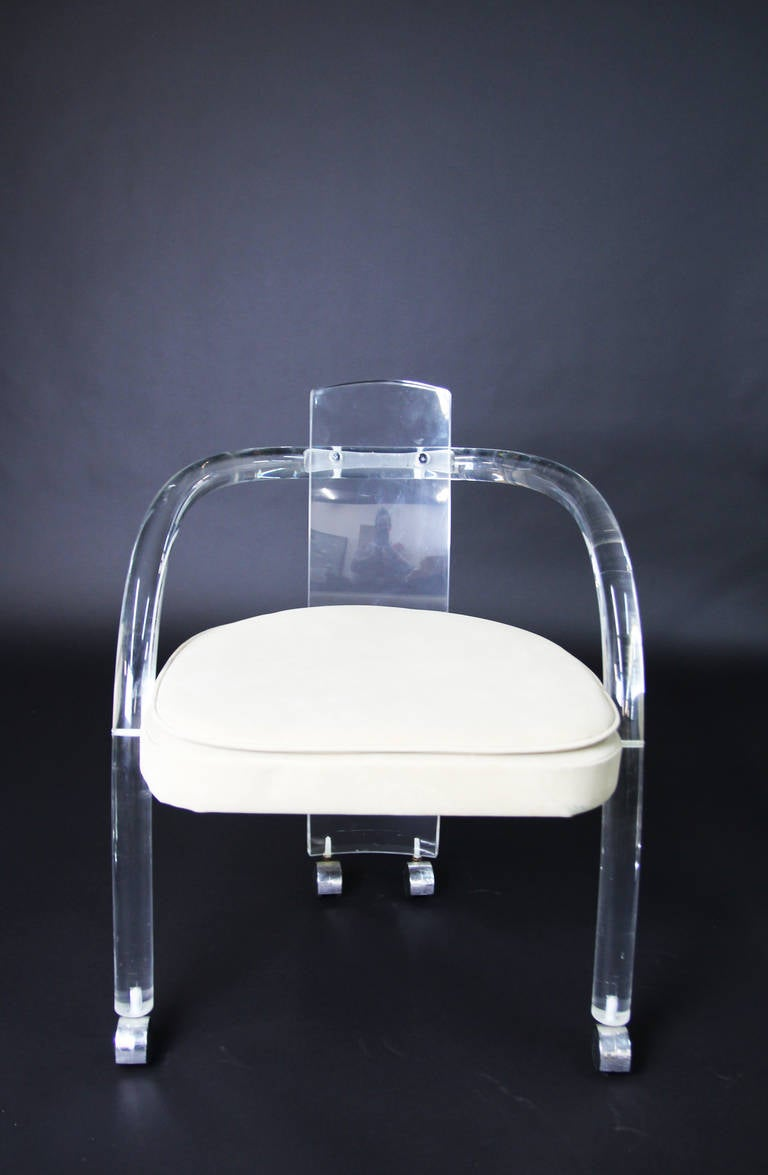 Set of Four Charles Hollis JonesStyle Lucite Chairs at 1stdibs