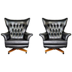Pair of G-Plan Blofeld Lounge Chairs, Model 6250, by Paul Conti