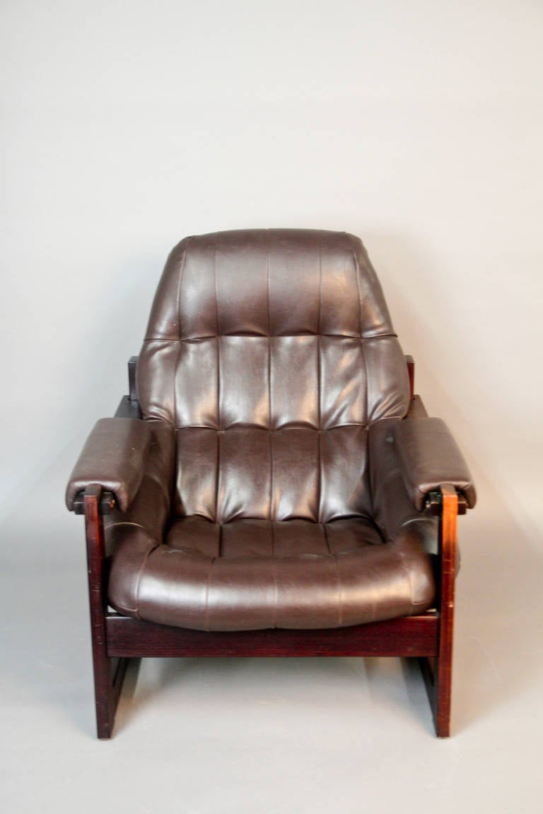 Percival Lafer Brazilian Rosewood Lounge Chair At 1stdibs