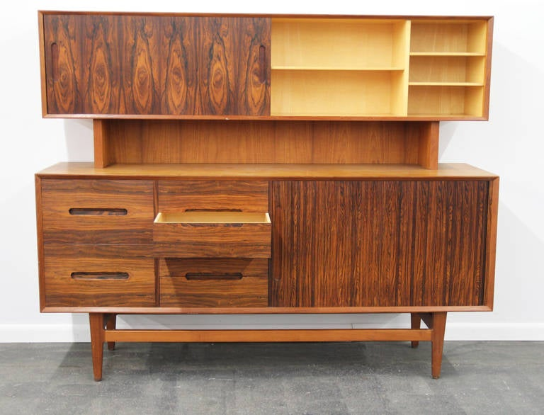 This Is A Gorgeous And Very Unique Mixed Use Buffet With Hutch Or Sideboard Sliding
