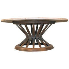 Sheaf of Wheat Coffee Table by Edward Wormley for Dunbar with Marble Top