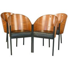 Set of Four Costes Barrel Back Chairs by Philippe Starck