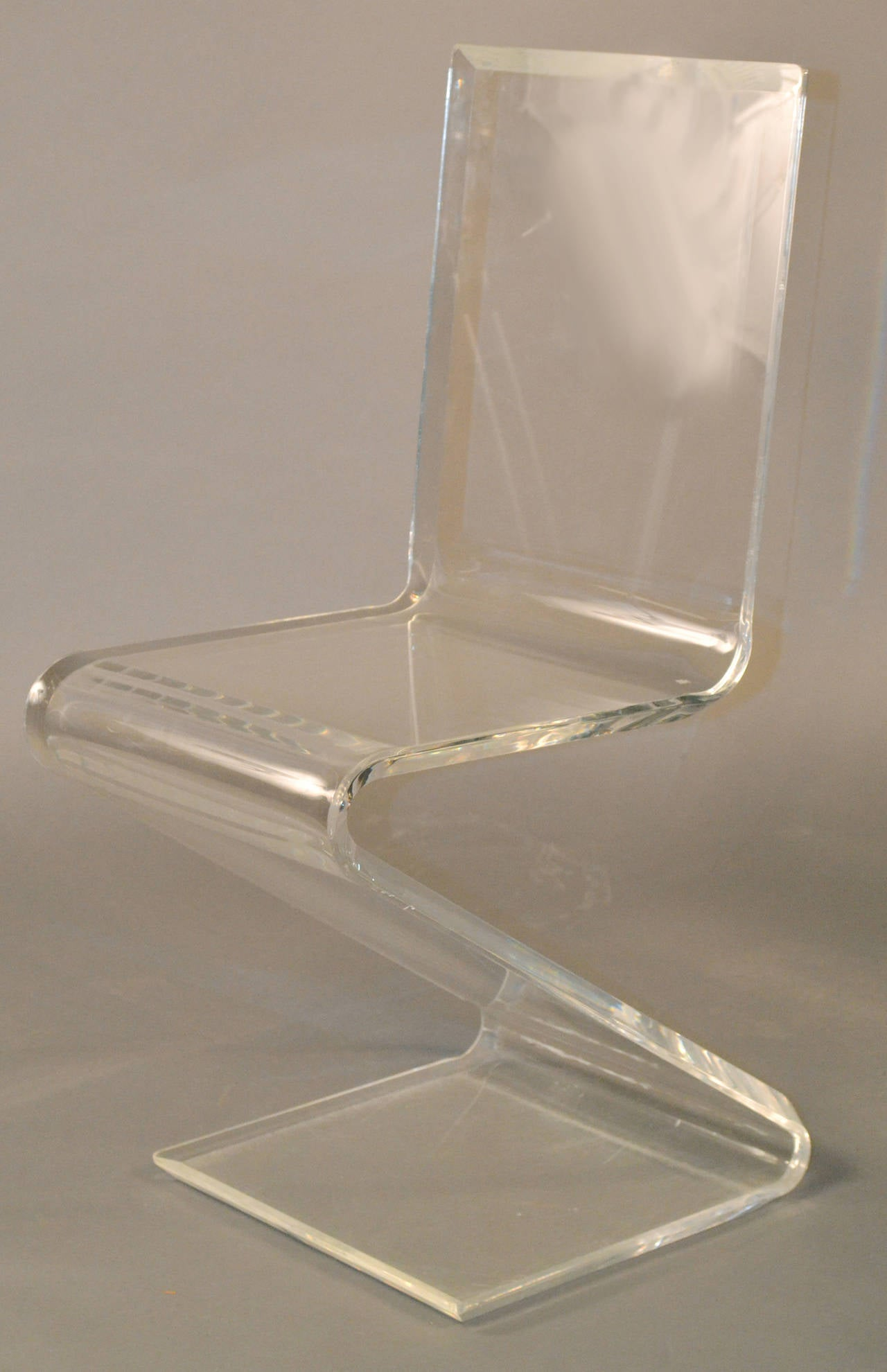Set Of Six Lucite Z Chairs In The Style Of Gerrit Reitveld