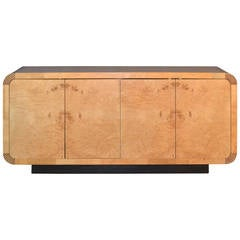Burled Olivewood Sideboard by Henredon Attributed to Milo Baughman