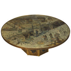Exquisite Signed Philip and Kelvin LaVerne Coffee Table