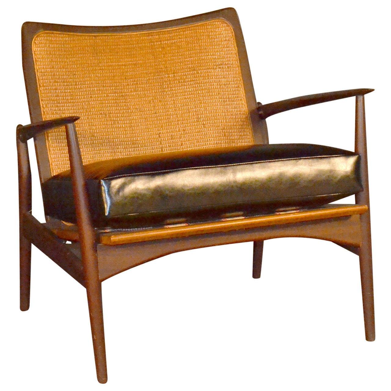 Ib Kofod Larsen for selig spear chair model 544-15