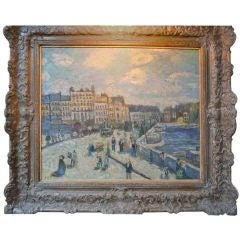 Oil Painting Of The Pont Neuf After Monet
