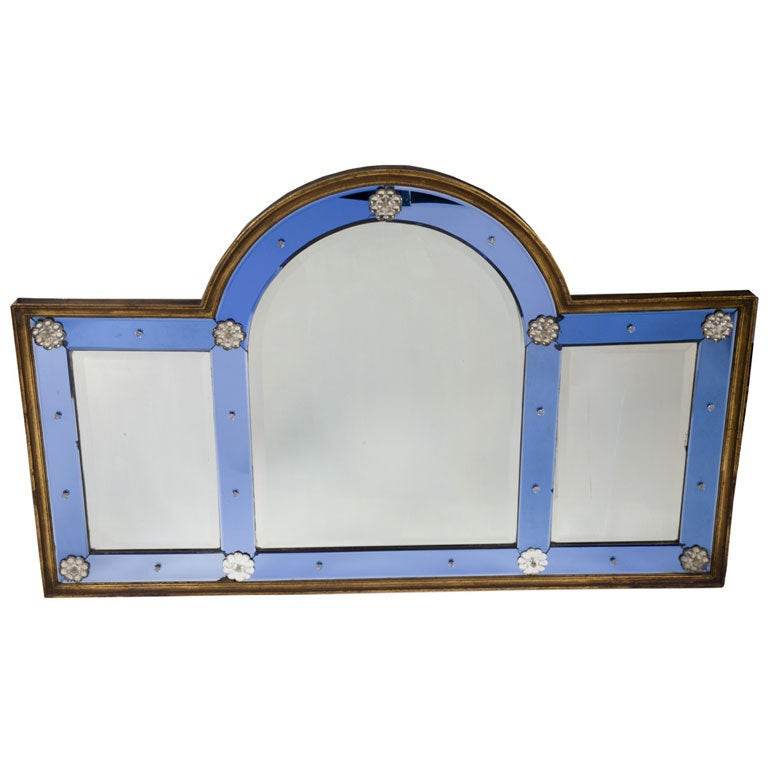 A queen anne style over mantle mirror at 1stdibs for Mantel mirrors